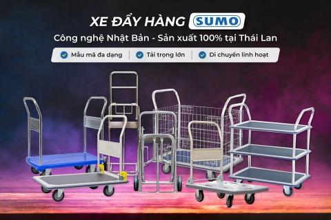 Sumo thương hiệu xe đẩy hàng công nghệ Nhật - Sản xuất tại Thái Lan
